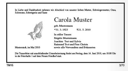 Traueranzeigen Ostseezeitung